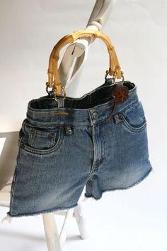 Stella recycled denim handbag