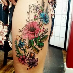 3a3eefac4e128 Watercolor flowers by Jay Gregorowicz at Frew Tattoo Danville PA Beautiful  Art Pictures, Watercolor Tattoo