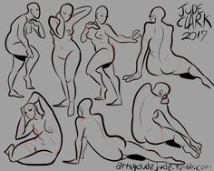 finally got krita to work on my new computer; have some gesture poses.