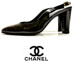 This patent black leather Chanel heel will look great with any Monday night out outfit. Come by and try on today. Featured items: Chanel shoe (8.5) $348 #nashville #hip2flip #consignment #flipnashville #nashvillenow #chanel