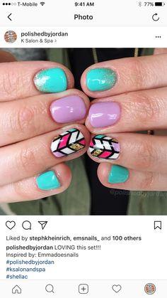 Cute Nails Summer Nails Fun Nails Geometric Nails @polishedbyjordan