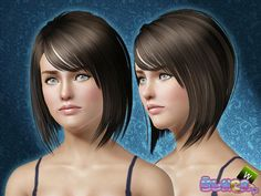 Fringed bob with bangs hairstyle 13 by Ulker for Sims 3 - Sims Hairs - http://simshairs.com/fringed-bob-with-bangs-hairstyle-13-by-ulker/