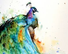 RAVEN Watercolor Print By Dean Crouser by DeanCrouserArt on Etsy