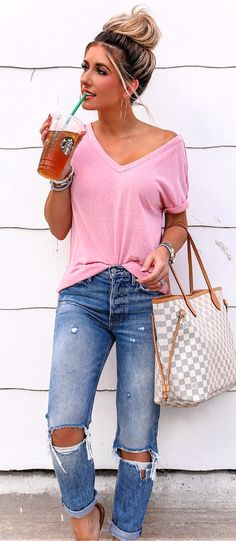 6cf2218221a5 22 Best Jean Capri Outfits images | Casual outfits, Clothing styles ...