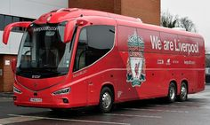 """""""Liverpool, Man City & Arsenal have all got new team coaches this week! Liverpool History, Fc Liverpool, Liverpool Football Club, Football Team, Arsenal, Luxury Bus, Team Coaching, Vans, You'll Never Walk Alone"""