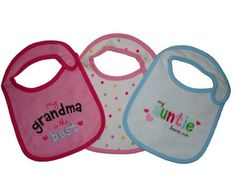 Child Of Mine Carters 3 piece Waterproof Bib Set for Baby Girl TeethingFeeding * Want additional info? Click on the image.