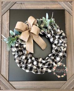 Excited to share this item from my shop: Buffalo Plaid Burlap Wreath, Front Door Wreath, Fall Burlap Wreath, Buffalo Check Wreath, Farmhouse Wre. Holiday Burlap Wreath, Burlap Christmas, Christmas Wreaths, Burlap Wreaths For Front Door, Etsy Christmas, Easter Wreaths, Fall Wreaths, Mesh Wreaths, Mesh Bows