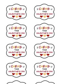 Free Valentines Day Printable Gum themed valentines Free Printables