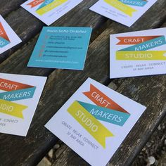 Business cards for craft makers.