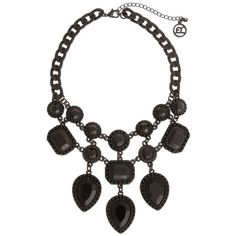 Erica Lyons Black Hematite-Tone Bad Romance Statement Necklace ($24) ❤ liked on Polyvore featuring jewelry, necklaces, black, vintage statement necklace, bib statement necklace, hematite necklace, erica lyons necklace and erica lyons jewelry
