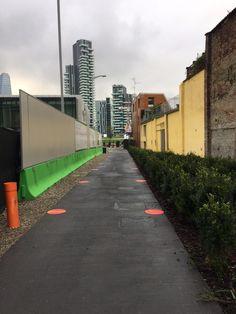 La biblioteca degli alberi Milano pavimentazione #calcestruzzo scopato #Deltapav