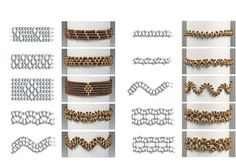 Nice patterns what to make with superduo / twin beads. Go to http://www.creadream.nl/kralen/superduo/ for superduo beads.