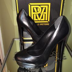 NWOT make offer! Pour la Victoire black stilettos Re-Posh :( great shoes. Leather. Size says 7 1/2 but fits more like a 7 (I wear 7 1/2 - 8 and can't get my foot in comfortably). Brand new in the box. Pour la Victoire Shoes