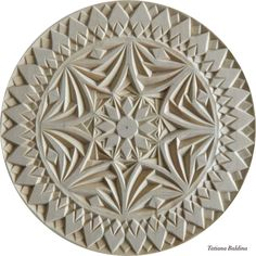 """Kaleidoscope"" (chip carving and multi-level carving, pattern by Tatiana Baldina)"