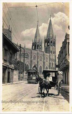Pre-war Calle San Sebastian, Quiapo, Manila