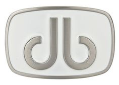 DB Giant Oval White Buckle by Druh Belts.  Buy it @ ReadyGolf.com