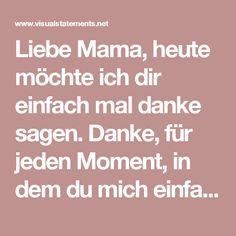 Sprüche Danke Mama