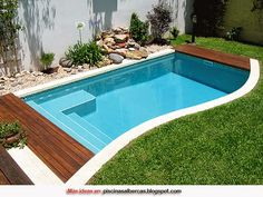 most unique small inground pools ideas that will .- Einzigartigste kleine Inground Pools Ideen, die Ihren Verstand umwerfen werden most unique little inground pools ideas that will upset your mind - Small Inground Pool, Small Swimming Pools, Small Backyard Pools, Backyard Pool Designs, Small Pools, Swimming Pools Backyard, Swimming Pool Designs, Pool Landscaping, Backyard Patio