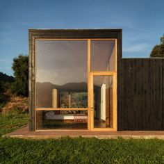 Rural Home at Countryside Glass Wall