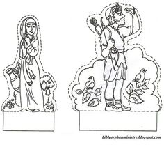People asking for template of this craft, Jacob and Esau from this blog post . So, you can have templates for free. :)     To save these t...