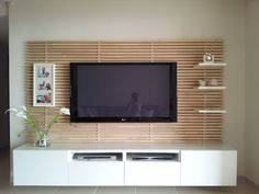 Mondal with tv and Besta cabinetry | ikea