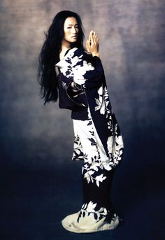 Gong Li photographed by Paolo Roversi for Vogue December 2005
