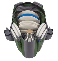 The Shift Disc Golf Backpack Bag in Agave Green