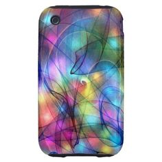 rainbow glowing lights tough iPhone 3 case