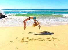 gymnastics on the beach :)