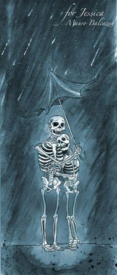 skeleton rain mauro balcazar