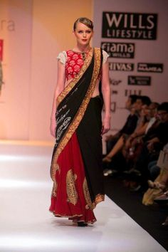 Love Joy Mitra's red and black combo