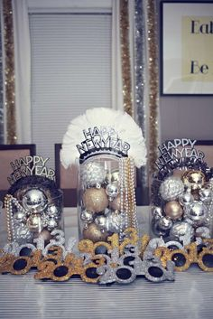 Silver Gold & Black New Year's Party Ideas | Photo 8 of 38 | Catch My Party