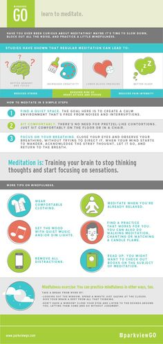 Learn to meditate. October ParkviewGO Challenge Summary. | via  @ParkviewHealth