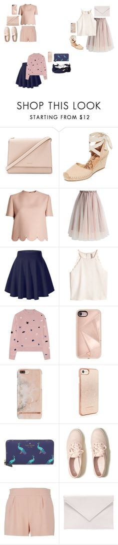 """pink? rosegold?"" by mmaulidyaa on Polyvore featuring Kate Spade, Sam Edelman, Valentino, Chicwish, Être Cécile, Rebecca Minkoff, Hollister Co., Moschino, Verali and Paul Green"