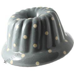 "Grand moule à kougelhopf ""pois"" - poterie de Soufflenheim - Alsace"