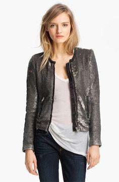 IRO Collarless Sequin Jacket | Nordstrom
