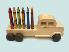 Crayon Truck Wood Toy