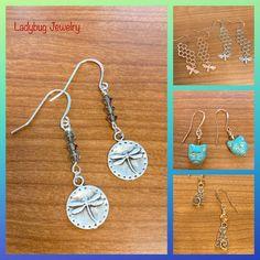 Ladybug Jewelry, Washer Necklace, Bee, Earrings, Ear Rings, Honey Bees, Stud Earrings, Ear Piercings, Bees