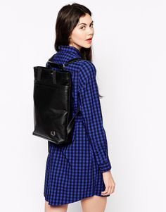 9e3b89aea76 Image 3 of Fred Perry Backpack with Top Handle Fred Perry