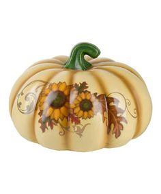 Another great find on #zulily! Short Sunflower Pumpkin Décor by GANZ #zulilyfinds