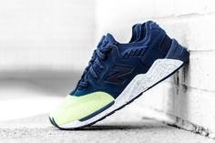 'Knit Toe' New Balance 009 Releases in Navy/Lime Glo - EU Kicks: Sneaker Magazine