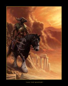 Dragonlance, Heroes, Kaz the Minotaur by Duane O. Myers.