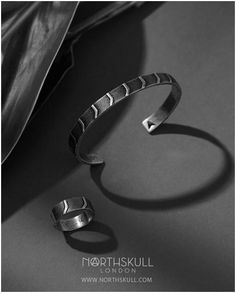 Accentuate your style with our intricately designed Mantz Cuff & Ring Set in Aged Silver. Inspired by abstract art in Eastern Europe, it's sure to add a touch of style to your outfit. Complete the look with our matching Mantz Necklace in Aged Silver. Available now at Northskull.com [Worldwide Shipping] #Luxury #Jewelry #MensAccessories