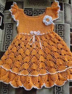 Crochet Baby Dress Pattern, Baby Girl Dress Patterns, Baby Girl Crochet, Crochet Baby Clothes, Baby Knitting Patterns, Crochet For Kids, Baby Patterns, Youtube Crochet Patterns, Baby Christening Dress