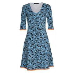 Mania Copenhagen - Stella kjole med ærme -  Multistar - Turkis