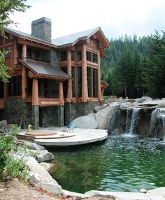 Some cabins are larger than others :) Waterfall Deck, Cle Elum, Washington