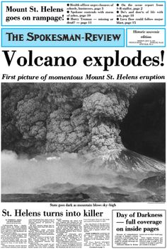 Mount St. Helens May 18, 1980.  I survived Mt. St. Helens blast.  I was in the 8th grade when it blew.  Very scary time for everyone.