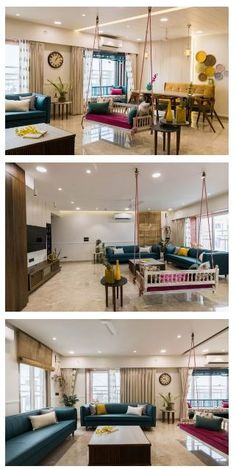 Living Room Partition Design, Room Partition Designs, Living Room Sofa Design, Home Room Design, Interior Design Living Room, Living Room Designs India, Living Room Decor India, Indian Room Decor, Indian Living Rooms
