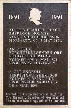 On this day in 1891, Sherlock Holmes fell to his apparent death at the Reichenbach Falls, as depicted in the pages of 'The Final Problem'.
