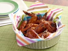 Orange Glazed Chicken Wings Recipe : Alton Brown : Food Network - FoodNetwork.com These are on the menu tonight!!!